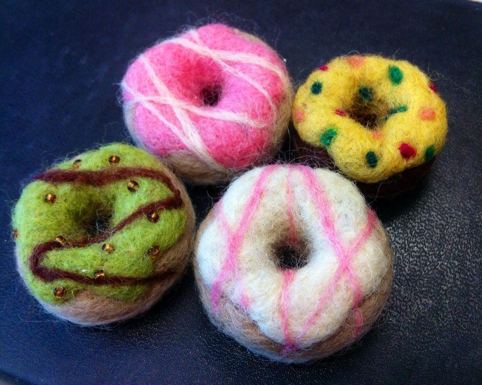 Mini donuts needle felting