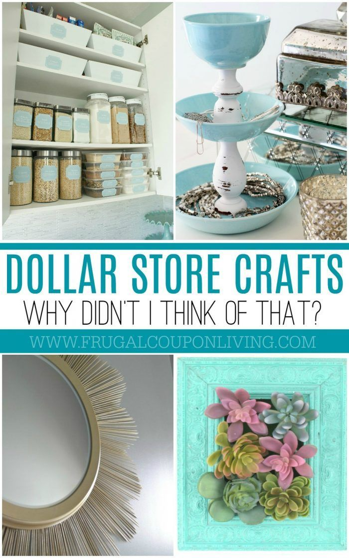 Dollar Store Crafts and Hacks on Frugal Coupon Living Creative DIY Dollar Store Ideas that look like a million bucks