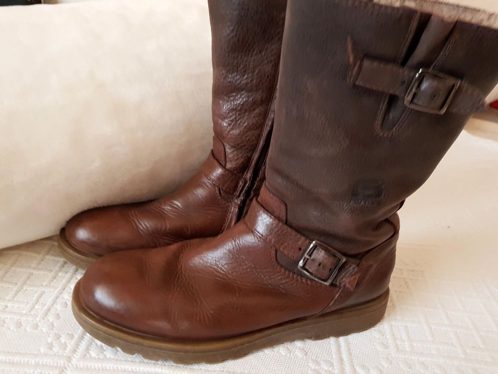 promo code 49bd7 28585 Mädchen Stiefel Boots Lederschuhe Gr. 36 braun Damenschuhe ...