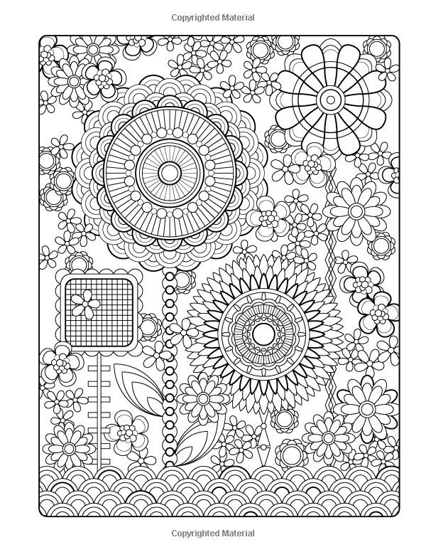 Flower Designs Coloring Book Volume Colouring Page