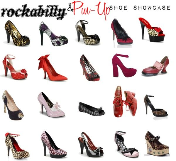 """""""Rockabilly & Pin-Up Shoe Showcase"""" by sugaredheart on Polyvore"""