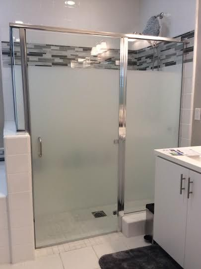 Cover bathroom shower doors with Privacy Frosted Widow Film. Privacy  Frosted Window Film gives you
