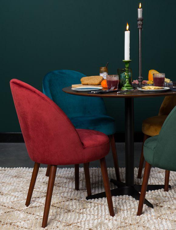 Mit Stuhl Barbara zieht Farbe in Ihr Zuhause ein Denn die aus Samt