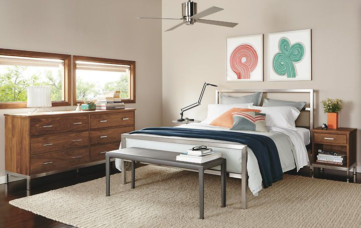 not so much the metal headboard, but like the colors, and like the look.. would prefer a little cozier