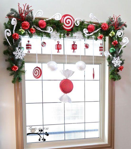 Decoración navideña de ventanas Navidad