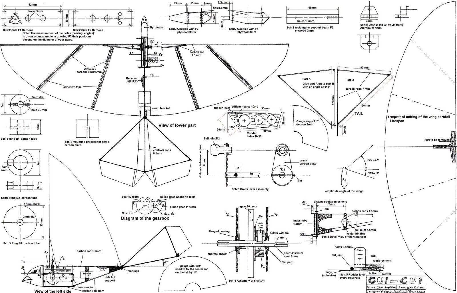 Rc Ornithopter Plan
