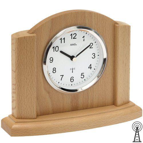 Funk-Tischuhr Farbe Buche AMS Uhrenfabrik http\/\/wwwamazonde\/dp - moderne wohnzimmeruhr