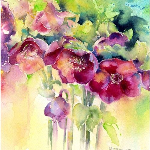 Bev Wells Buscar Con Google Floral Watercolor Flower Drawing