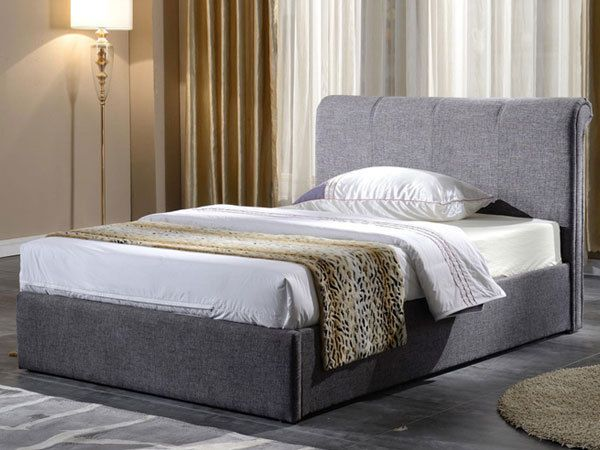 Magnificent Brynford 50Ft Kingsize Ottoman Bed Grey Fabric Storage Onthecornerstone Fun Painted Chair Ideas Images Onthecornerstoneorg