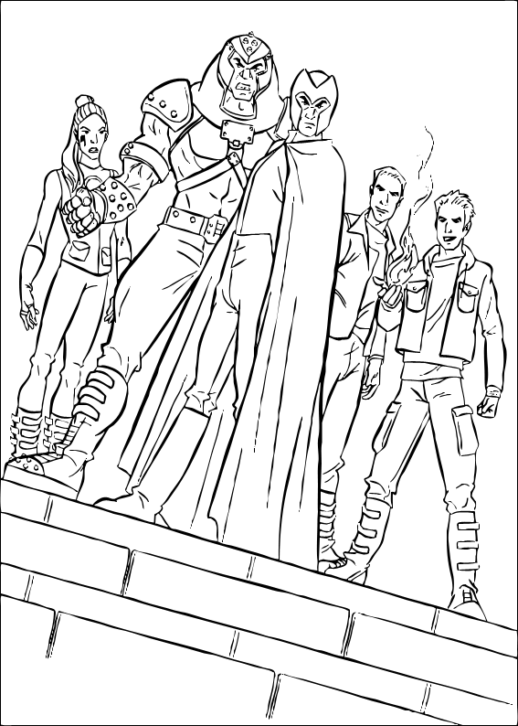 Here A Nice Coloring Page Of The X Men Movie More Super Heroes Coloring Pages On Hellokids Com Ilustracoes Desenhos Para Colorir Desenhos