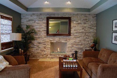 40 Stone Fireplace Designs From Classic To Contemporary Spaces - Decoracion-con-piedras-en-interiores