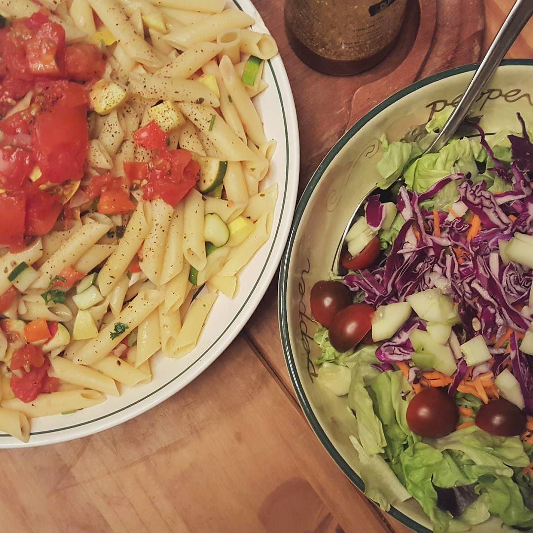 """My wonderful mom's first homemade oil-free dinner as a VEGAN OMG words cannot describe how proud & ecstatic I am that my mom is finally genuinely going vegan (not to mention how proud @lilbitzzzz made me when he recently did as well) I had my mom read """"McDougal's guide to maximum weight loss"""" while we were traveling and she was sold Cannot wait to see her future body & health progress GO MOM #vegan #plantbased #supremebanana by mssupremebanana"""