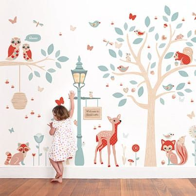 Our Woodland Wall Stickers Theme Creates A Truly Magical Little World For Your Child S Bed Woodland Wall Decals Boys Bedroom Wallpaper Room Wallpaper