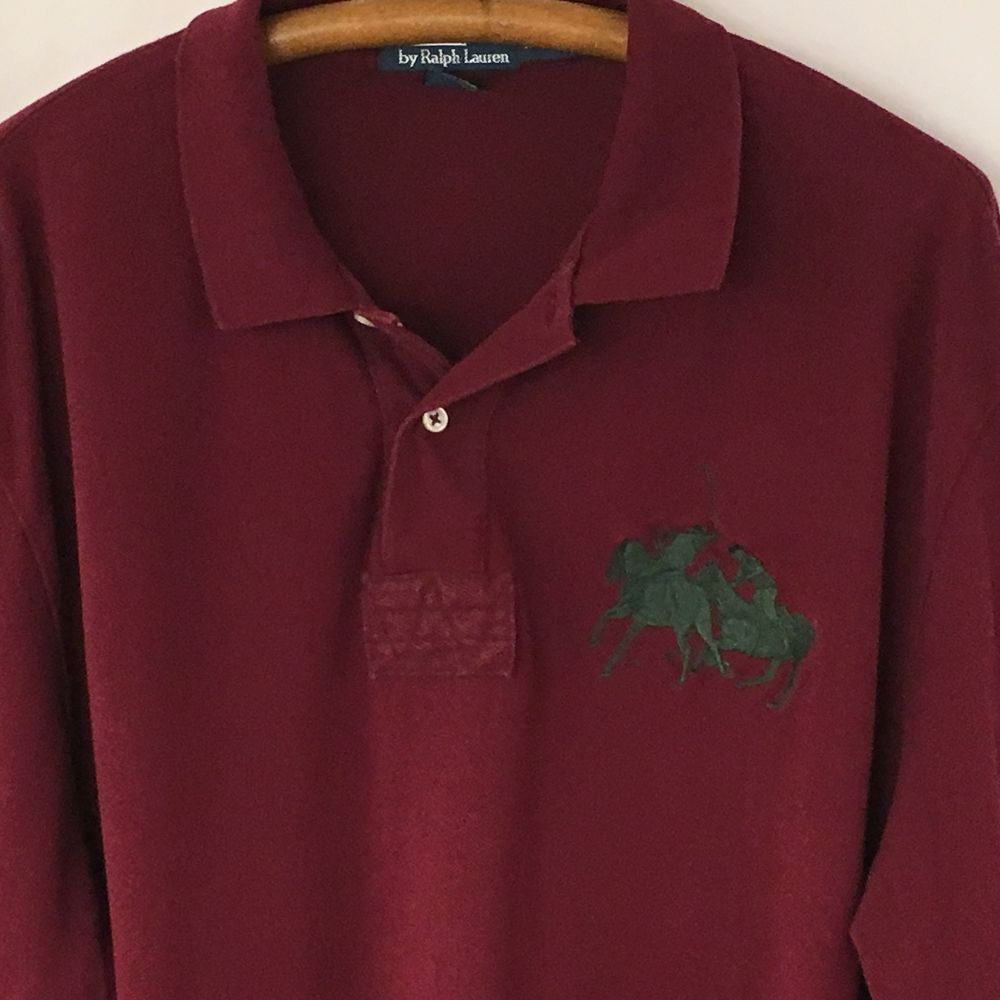 394ae3e68ed0 Polo by Ralph Lauren Mens 2XLT Tall Wine Long Sleeve Polo Shirt Big Pony  Crest  PoloRalphLauren  PoloRugby