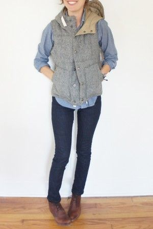 Love this look especially the herringbone vest