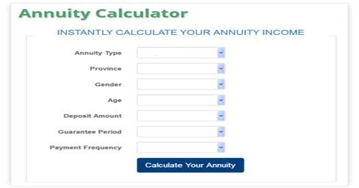 try our new annuity calculator which will instantly calculate your