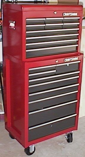 Craftsman Tool Chest Red Black Bottom Unit With Casters