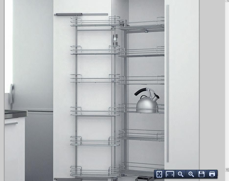 cocinas Tipos de muebles para organizar tu cocina. Columna extraible ...