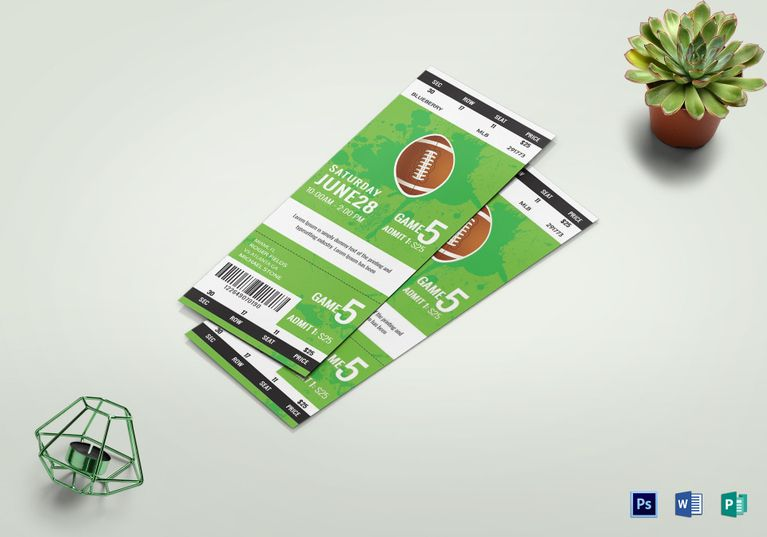 Rugby Game Ticket Template | Pinterest | Rugby games, Ticket ...