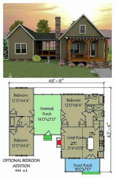 2 Bedroom Cottage Designs Pinmadeline Cook On  For The Home   Pinterest