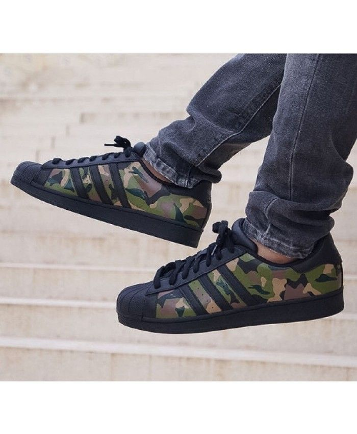 adidas camo green superstar