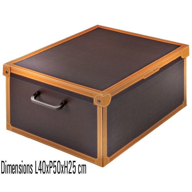 Boite De Rangement Carton Decorative Avec Couvercle Decor Imitation Cuir Rangement Carton Boite De Rangement Boite De Rangement Carton