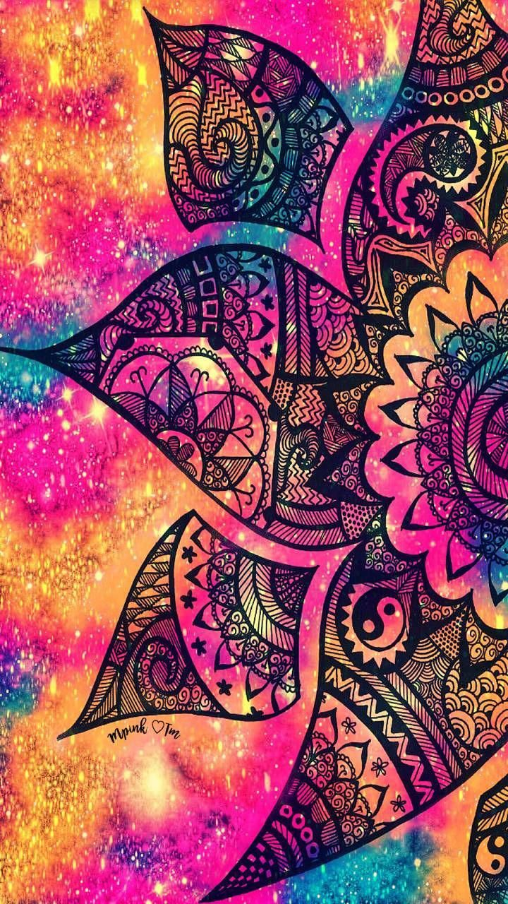 Sunset Floral Galaxy Wallpaper Androidwallpaper