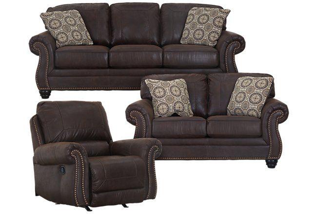 Best Breville Dark Brown Microfiber Living Room Living Room 400 x 300