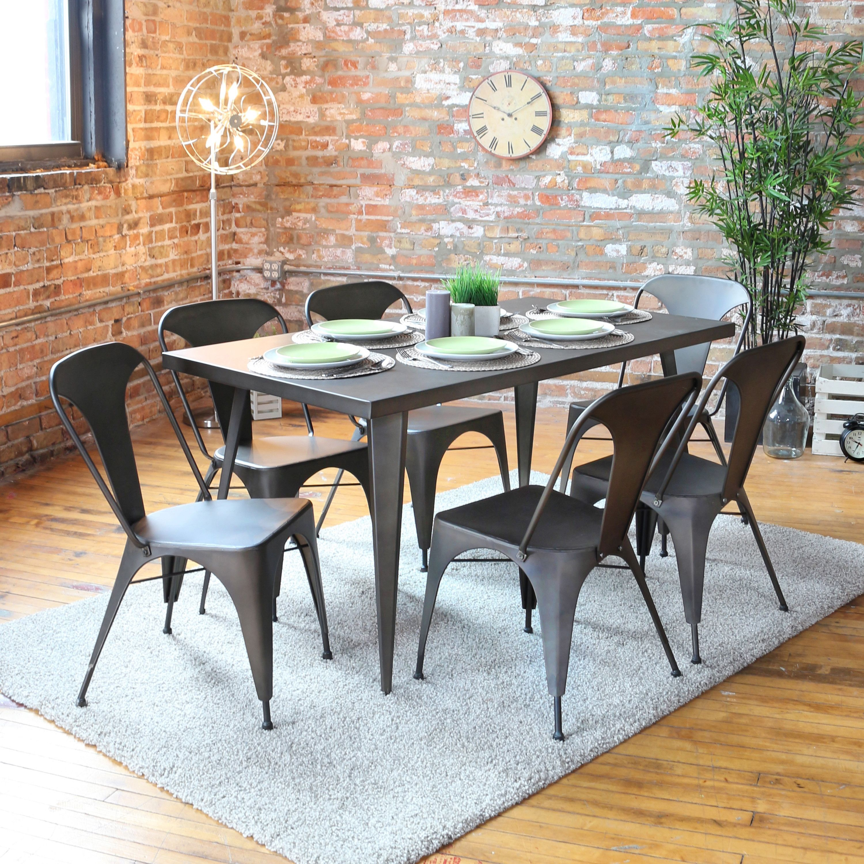Lumisource Austin Dining Table Dining Table Metal Dining Table