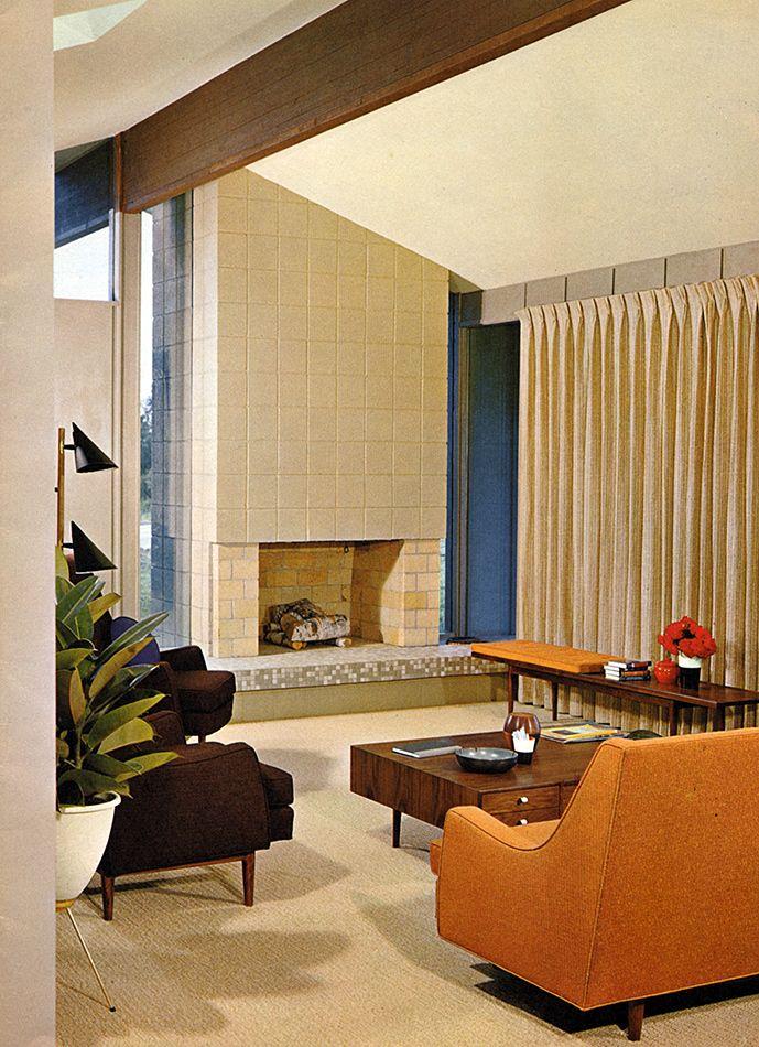 Mid-Century Modern Interior Design, Vintage Architecture, Vintage ...