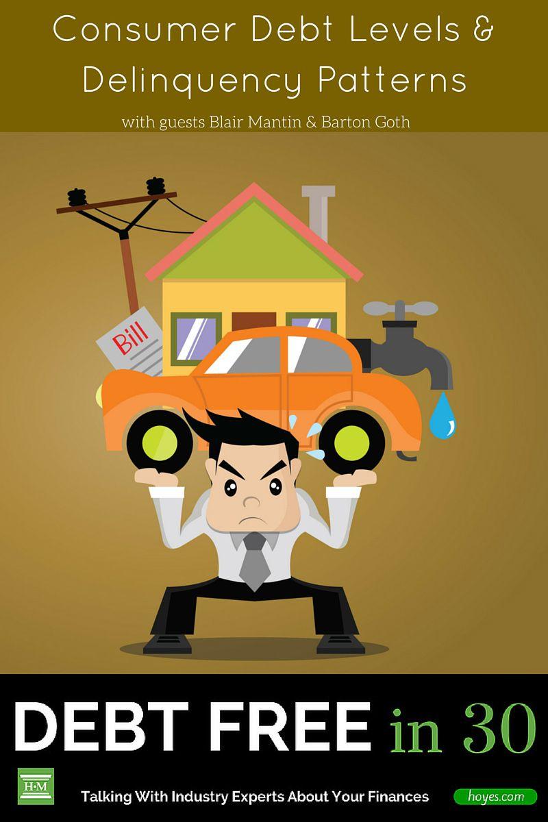 Consumer Debt Delinquency Patterns Debt Free In 30 Consumer Debt Debt Budgeting Money