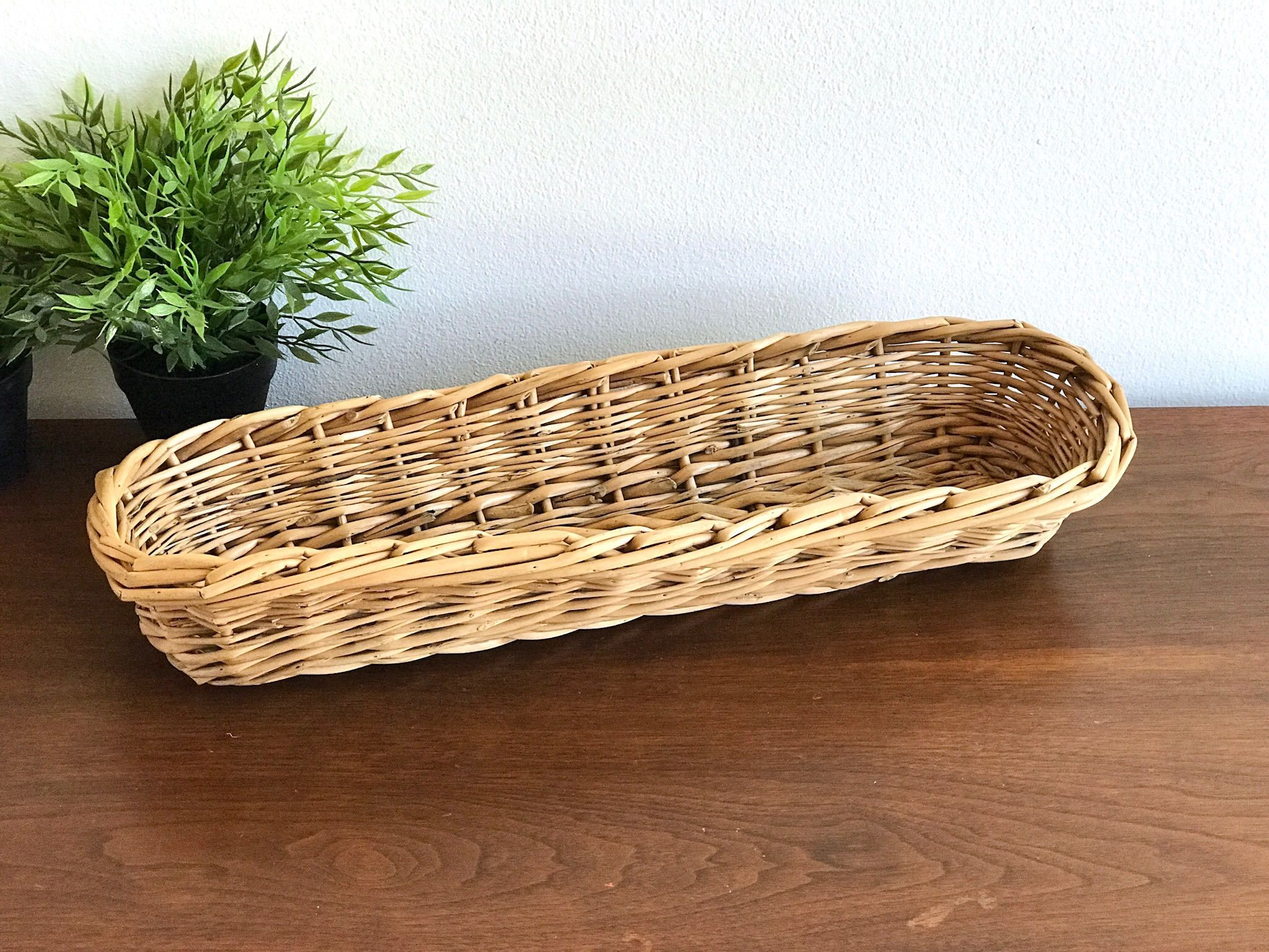 French Baguette Basket From France Authentic Long Narrow Bread Farmhouse Boulangerie