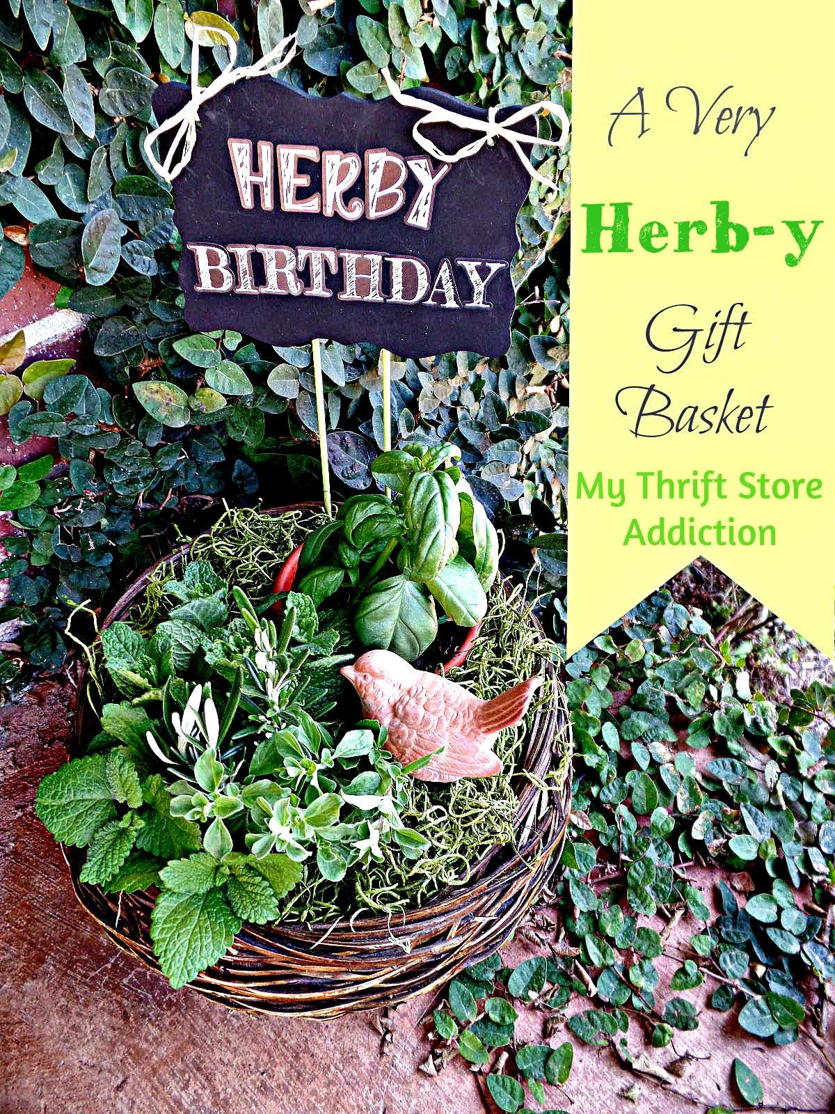 A Very Herby Gift Basket Urban Jungle Bloggers Herbs
