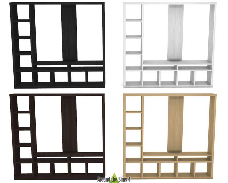 ikea expedit kallax tv shelf salon pinterest sims. Black Bedroom Furniture Sets. Home Design Ideas
