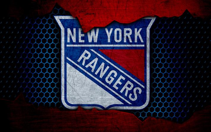 Download wallpapers New York Rangers, 4k, logo, NHL