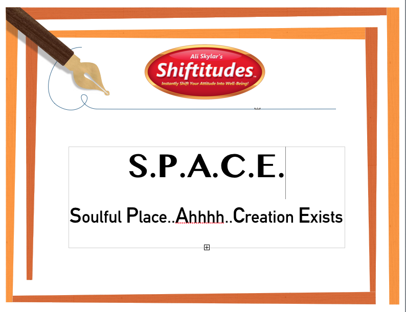 Isn't SPACE where all things begin?  http://suckytosoulful.com/loving-kindness-space-final-frontier/