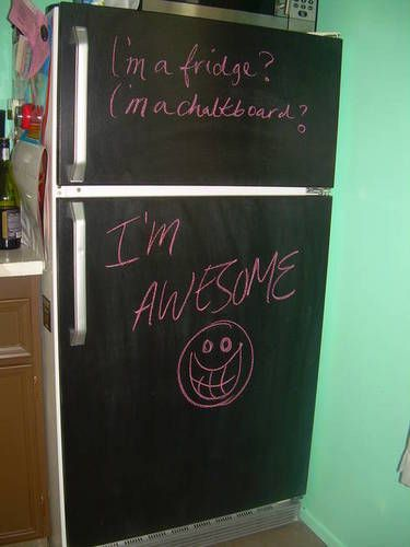 "Obviously ahead of my time.  Should have used chalk instead of crayons. :)  Still ""awesome"""