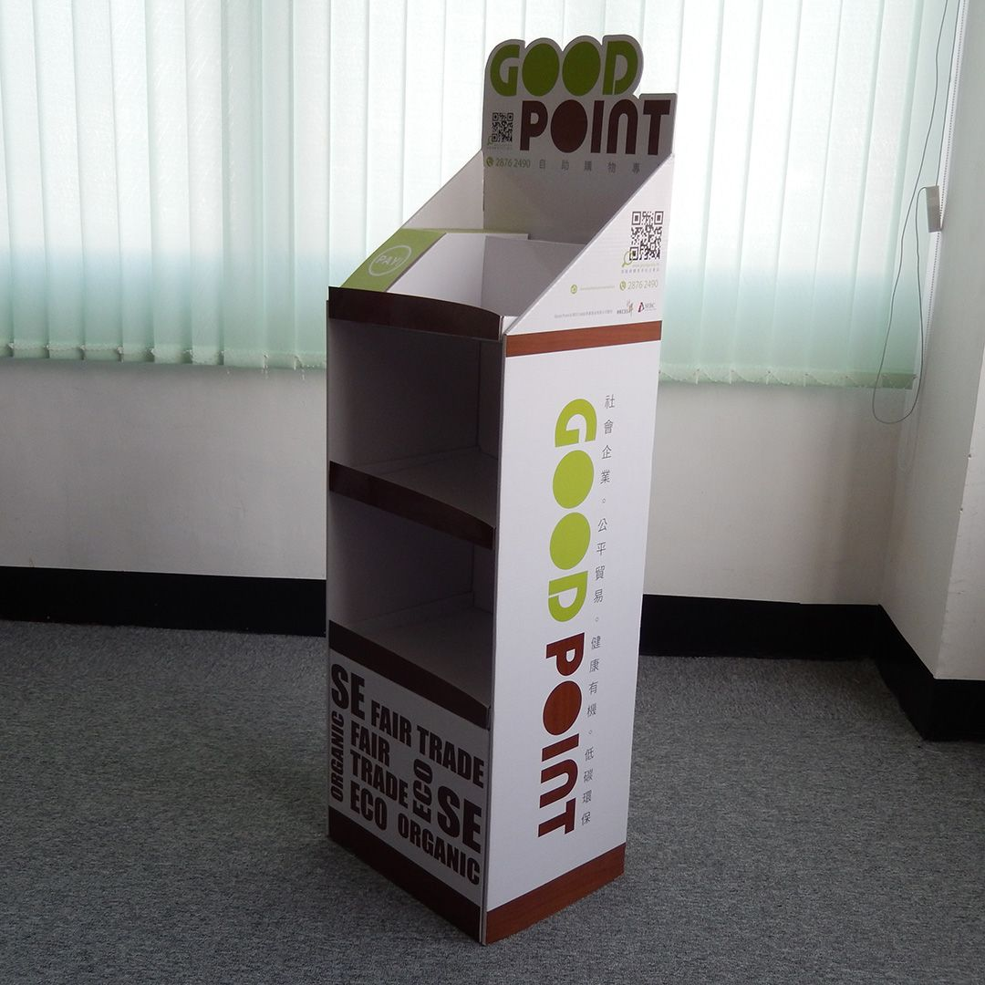 Cardboard Greeting Card Display Stand Free Standing Displays
