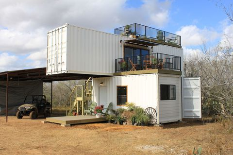 stacked shipping container house