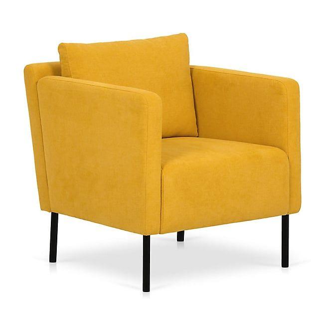 jenny fauteuil en tissu jaune  fauteuil fauteuil jaune