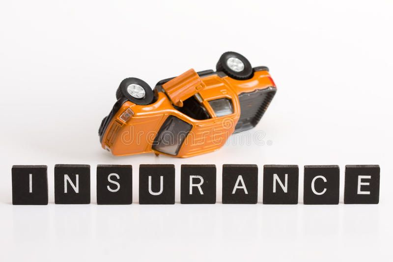 Car Insurance Conceptual Car Insurance Using Letters Alphabet And