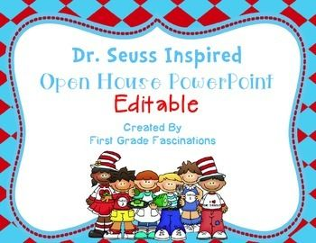 dr. seuss inspired open house powerpoint | open house/conferences, Modern powerpoint