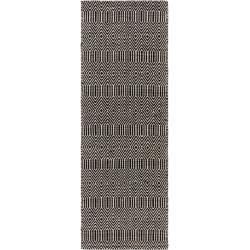 Photo of benuta flat woven carpet Sloan black / white 66×200 cm – Modern carpet for living room benuta