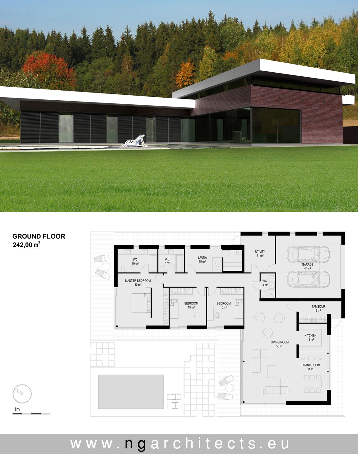 Modern House Plan Designed By Ng Architects Www Ngarchitects Eu