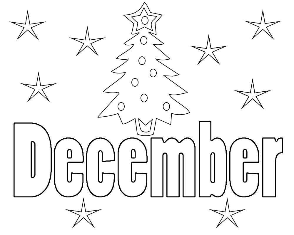 December Coloring Pages Kindergarten Free, Adults ...