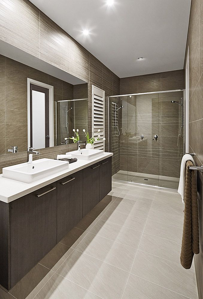Textured Floor To Ceiling Tiling In The Master Ensuite Of The Inspiration Master Ensuite Bathroom Designs Decorating Design