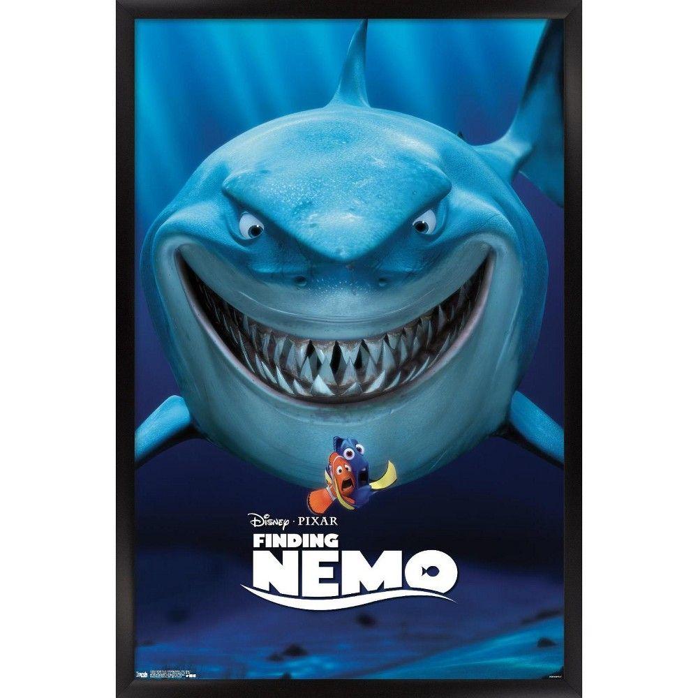 Trends International Disney Pixar Finding Nemo - One Sheet Framed Wall Poster Prints Black Framed Version 22.375
