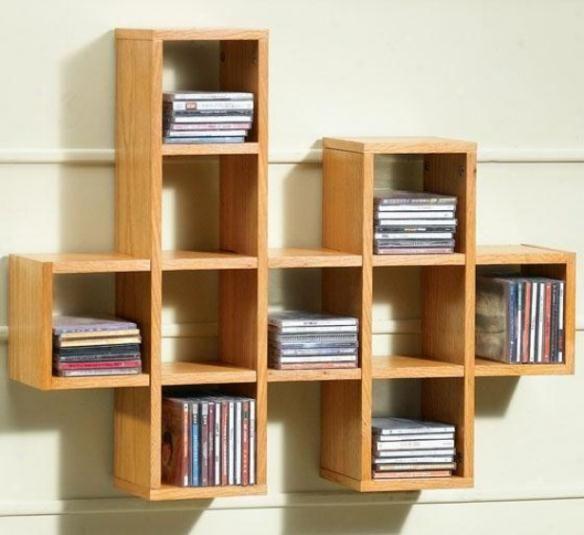 creative and unique decorative wall shelves design ideas with wood rh pinterest com cd wall shelf cd wall shelves from pallets