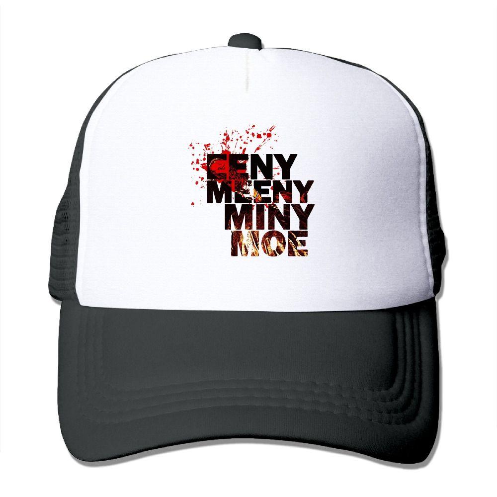 de62d647888 Summer Unisex Eeny Meeny Miny Moe polyester Mesh Hat Vintage 3D Print  baseball Hats Adjustable caps