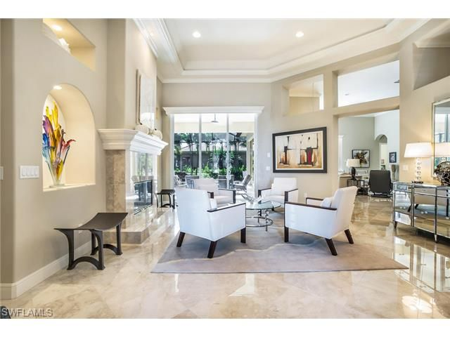 5710 Sago CT, Naples, FL 34119 | Contemporary formal living room - gorgeous and welcoming, not stuffy.  The Vineyards